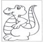 Dino kleurplaat
