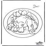 Kleurplaten Dieren - Dino raamhanger