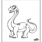 Kleurplaten Dieren - Dinosaurus 10