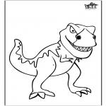 Kleurplaten Dieren - Dinosaurus 11
