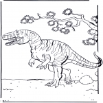 Kleurplaten Dieren - Dinosaurus 2