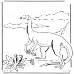 Kleurplaten Dieren - Dinosaurus 3