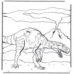 Kleurplaten Dieren - Dinosaurus 4