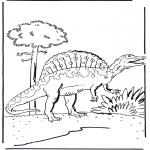 Kleurplaten Dieren - Dinosaurus 5