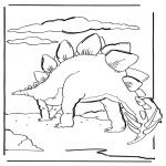 Kleurplaten Dieren - Dinosaurus 6