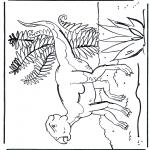 Kleurplaten Dieren - Dinosaurus 7