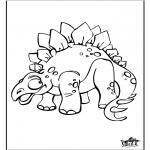 Kleurplaten Dieren - Dinosaurus 9