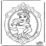 Stripfiguren Kleurplaten - Disney Prinses Belle 1