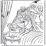 Kleurplaten Bijbel - Dochtertje van Jaïrus 1