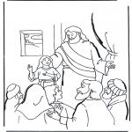 Kleurplaten Bijbel - Dochtertje van Jaïrus 2