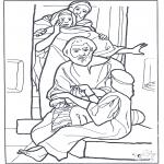 Kleurplaten Bijbel - Dochtertje van Jaïrus 3