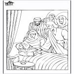 Kleurplaten Bijbel - Dochtertje van Jaïrus 4
