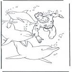 Kleurplaten Dieren - Dolfijnen kleurplaten
