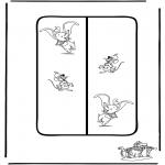 Stripfiguren Kleurplaten - Dombo boekenlegger