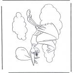 Thema kleurplaten - Dombo ooievaar