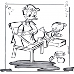 Stripfiguren Kleurplaten - Donald Duck 2