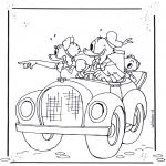 Stripfiguren Kleurplaten - Donald Duck 4