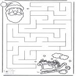 Knutselen - Doolhof kerstman