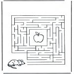 Knutselen - Doolhof muis