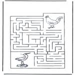 Knutselen - Doolhof vogels