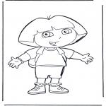 Kinderkleurplaten - Dora 1