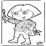 Kinderkleurplaten - Dora 10