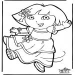 Kinderkleurplaten - Dora 11