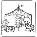 Kinderkleurplaten - Dora 13
