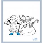 Kinderkleurplaten - Dora 17