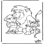 Kinderkleurplaten - Dora 2