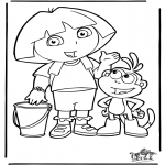 Kinderkleurplaten - Dora 4