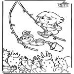 Kinderkleurplaten - Dora 6