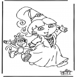 Kinderkleurplaten - Dora 8