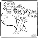 Kinderkleurplaten - Dora 9