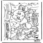 Kinderkleurplaten - Dora jarig