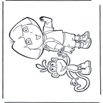 Kinderkleurplaten - Dora kleurplaten