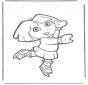 Dora op schaatsen