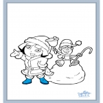 Kleurplaten Winter - Dora winter