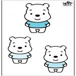 Kinderkleurplaten - Drie beren