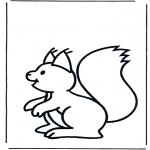 Kleurplaten Dieren - Eekhoorn 1