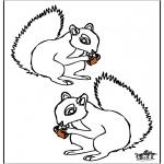 Kleurplaten Dieren - Eekhoorn 4