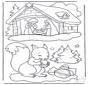 Eekhoorn en kerststal