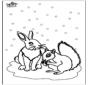 Eekhoorn en konijn