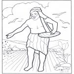 Kleurplaten Bijbel - Een zaaier ging uit om te zaaien