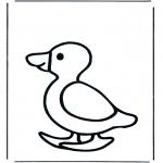 Kleurplaten dieren - Eend 1