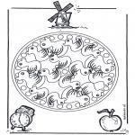 Mandala Kleurplaten - Eendenmandala