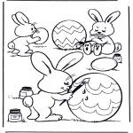 Thema Kleurplaten - Eieren beschilderen