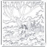 Allerlei Kleurplaten - Elfjes in het bos