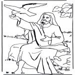 Kleurplaten Bijbel - Elia en de raaf