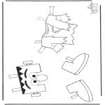 Kinderkleurplaten - Elmo kleren 1